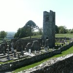 The Beautiful Bell Tower and Graveyard at The Hill of SLANE In CO.MEATH