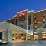 Hampton Inn & Suites ~ Uptown University (at night)
