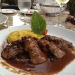duck with saffron mashed potatoes
