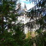 Neuschwanstein entre el follaje
