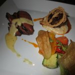 Bison, short rib, salad