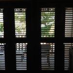 Plantation shutters open room 113