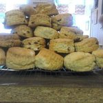 scones freshly made and cooling in a very tempting manner mmm nicer with church farm clotted cre