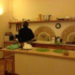 Ricardo preparing breakfast