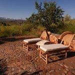 Sun terrace with Atlas mountains