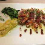 plat principal : mi cuit de thon