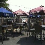 inviting outdoor patio/bar