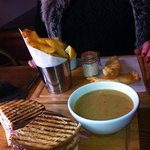 Club Sandwich, Soup of the Day & Fish Goujons