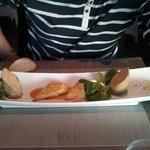 foie gras maison et samoussas de langouste