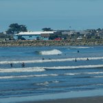 Crescent beach is a small-wave surfer paradise