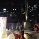 Desserts + View of the Sydney City skyline! Stunning and relaxing!