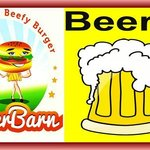 come have a beer with your burger