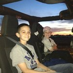 Great night at the Drive-In in the Jeep
