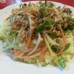 shrimp and green papaya salad. delicious.