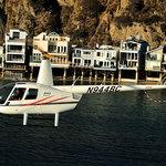 Malibu coastline from a helicopter