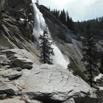 On the way to the top of Nevada Falls