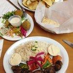 2 shish Kabob (Beef & chicken) and a starter Falafel