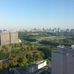 View of Hibiya Park and Imperial Palace from my room