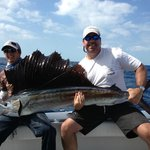 Large sailfish caught on Second Nature Charter