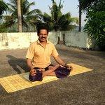 Suresh, the yoga instructor. each morning we did yoga asana, breathing, meditation and philosoph