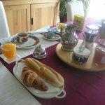 Un bon petit déjeuner avec ....tout ce que vous avez envie!