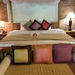 Bed in our honeymoon suite
