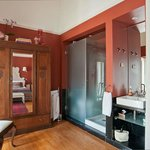 Beatriz Costa Bathroom and vintage cupboard.