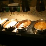 three main dishes with rice at the £8 buffet