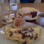 Great breakfast at The Farmhouse, Salisbury, NC