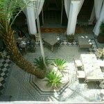 The Riad Si Said Restaurant and forecourt