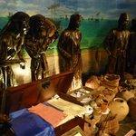 内部には航海の様子や交易の様子などが展示されている。
