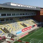 hotel staat in de hoek van het stadion
