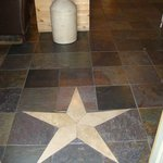Beautiful design in the slate floor entryway