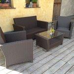 Lounge Möbel auf der neuen Sonnenterasse