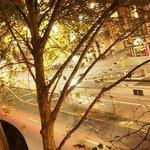 Tram stop right under my window