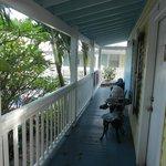 la veranda esterna in comune
