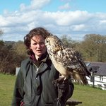 Michelle (our instructor) and Buffy (Bengal Eagle Owl)