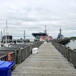Marina boardwalk leading to USS Yorktown