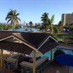 view down onto pool/ bar