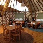 Inside our Grand Yurt