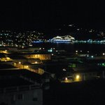 Cruise ships at night from the gallery