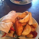 halloumi and hand cut supersize chips!