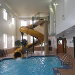 Waterslide & pool