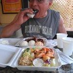 Spam Musubi, Combo plate & Healthier Garlic Shrimp plate!