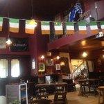 inside near the bar