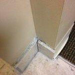 Tile breaking off wall