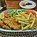 This is the fried fish fillet from the Special Lunch menu!