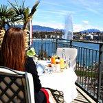 Terrace view of  Lake Geneva