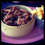 Crispy Chilli Beef - with the best chips!