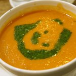 Tomato basil soup, oh so good!